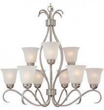 Maxim Lighting Basix Satin Nickel 9-Light Chandelier 10128ICSN