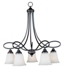 Maxim Lighting Nova Oil Rubbed Bronze 5-Light Chandelier 11043WSOI
