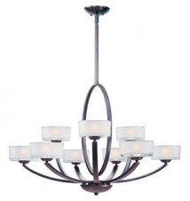 Maxim Lighting Elle Polished Chrome 9-Light Chandelier 19046FTPC
