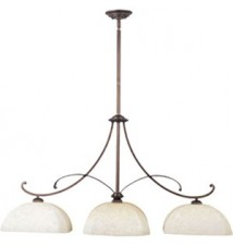 Maxim Lighting Oak Harbor Rustic Burnished 3-Light Island Light 21079FLRB