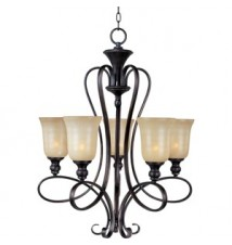 Maxim Lighting Infinity Oil Rubbed Bronze 5-Light Chandelier 21305WSOI