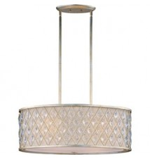 Maxim Lighting Diamond Golden Silver 4-Light Island Light 21456OFGS