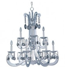 Maxim Lighting Cyclone Polished Chrome 9-Light Chandelier 22327PC