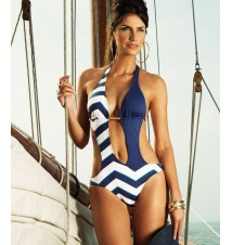 Verano High Chevron Print Nantucket One-Piece