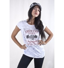 Burnout Short Sleeve Tee - Rhinestone Wild Thang
