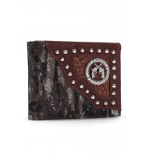 Mossy Oak® Camo Leather Crossed Guns Wallet