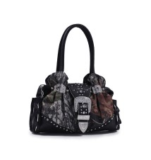 Taylor Mossy Oak® W/Rhinestones Buckle Hobo Bag