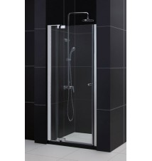 "DreamLine Allure 36 to 43"" Frameless Pivot Shower Door, Clear 3/8"" Glass Door, Chrome Finish"