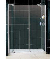 "DreamLine Allure Frameless Pivot Shower Door and SlimLine 30"" by 60"" Single Threshold Shower Base"