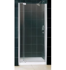 "DreamLine Allure Frameless Pivot Shower Door and SlimLine 36"" by 36"" Single Threshold Shower Base"