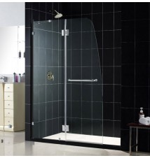 "DreamLine AquaLux 46"" Frameless Hinged Shower Door, Clear 5/16"" Glass Door"