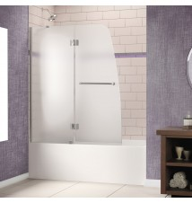 "DreamLine Aqua 48"" Frameless Hinged Tub Door, Frosted 1/4"" Glass Door"