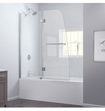 "DreamLine Aqua 48"" Frameless Hinged Tub Door, Clear 1/4"" Glass Door"