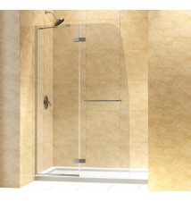 "DreamLine Aqua Ultra Frameless Hinged Shower Door and SlimLine 36"" by 60"" Single Threshold Shower Base"