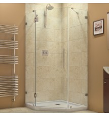 "DreamLine PrismLux 34 5/16"" by 34 5/16"" Frameless Hinged Shower Enclosure, Clear 3/8"" Glass Shower"