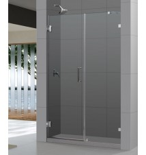 "DreamLine UnidoorLux 58"" Frameless Hinged Shower Door"
