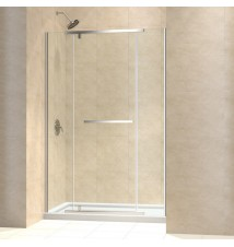 "DreamLine Vitreo-X Frameless Pivot Shower Door and SlimLine 36"" by 48"" Single Threshold Shower Base"