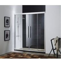 "Paragon Bath, CLARITY - Premium 5/16 in. (8mm) Thick Glass, Size: 59""W x 72""H, Sliding Shower Door, High Quality Chrome Finish, 10 Year Manufacturer Warranty"