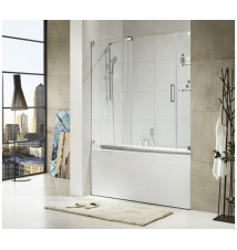 "Paragon Bath, OASIS-E - Premium 3/8 in. (10mm) Thick Glass, Size: 60""W x 58""H, Frame-less Sliding Shower Door, Chrome Hardware Finish, Limited 10 (Ten) Year Manufacturer Warranty"