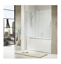 "Paragon Bath, OASIS - Premium 3/8 in. (10 mm) Size:60""W x 58""H Thick Glass, Frame-less Glass Design, Chrome Hardware Finish , Limited 10 (Ten) Year Manufacturer"