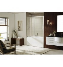 "Paragon Bath, Sedona - Premium 5/16 in. (8mm) Thick Glass, Size: 60""W x 58""H, Sliding Shower door, Chrome hardware finish, Limited 10 (Ten) Year Manufacturer Warranty"