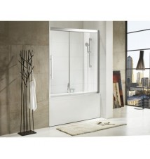 "Paragon Bath, TORRENTO - Premium 5/16 in. (8mm) Thick Glass, Size 59""W x 58""H, Sliding Shower Door, High Quality Chrome Finish, 10 Year Manufacturer Warranty"