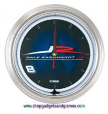 Dale Earnhardt- Jr. Neon Driver Clock