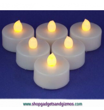 Flameless Tea Lights 6 Pack Set