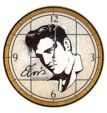 Elvis Presley Art Glass 12* Clock