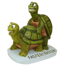 Big Mouth Toys Faster Faster Turtles Garden Statue
