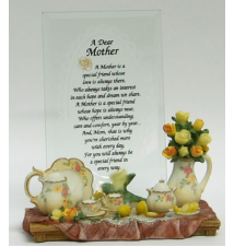 A Dear Mother Desktop Mirror Plaque #4