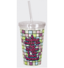 *Daughter* Acrylic Drinking Cup With Straw