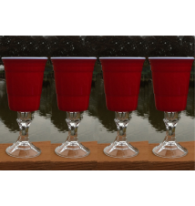 4 Pack Redneck SOLO Wine Cup - 18 Ounce