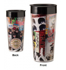 Beatles Album 16oz Plastic Travel Mug