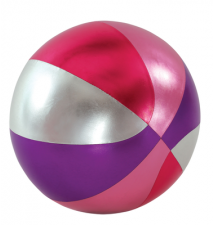 18-Inch Y*all Ball Inflatable Fun Ball Basketball Style Pink- Purple A