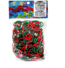 Genuine Choons Rainbow Looms Christmas Theme #157 300 Pcs Refill Bands
