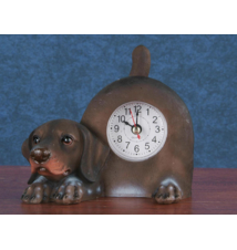 Curly-Coated Retriever Tail Wagging Clock #38