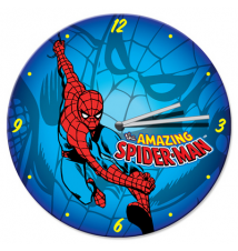 Amazing Spider-Man 13.5 Inch Cordless Wood Wall Clock