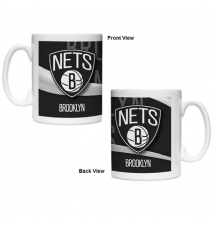 Brooklyn Nets 15oz Ceramic Wave Mug