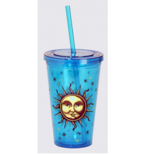 *Celestial* Acrylic Drinking Cup With Straw