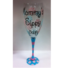 Giant Wine Glass- Mommy*s Sippy Cup