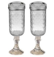 2 PACK  -  Redneck Champagne Flute Glass 12oz