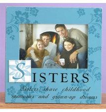 *Sisters* Blue Wood Frame