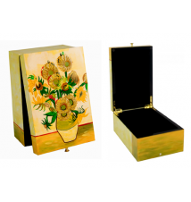 Coromandel Arts Sunflowers Jewelry Treasure Box #204