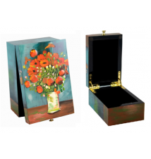Coromandel Arts Poppies Jewelry Treasure Box #203