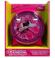 Disney*s Minnie Mouse Bowtique Time Teacher Desk Clock