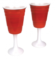 Big Mouth Toys Red Solo Cup Wine Glass/Party Cup Set Of 2