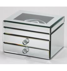 Fortuna Box Lift Top Mirrored Jewelry Box #281