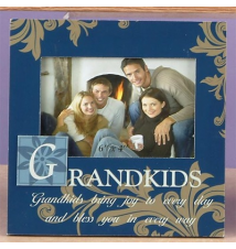 *Grandkids* Navy Blue Wood Frame