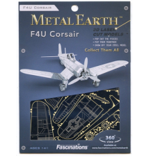 F4U Corsair Metal Earth 3D Laser Cut Model By Fascinations #015